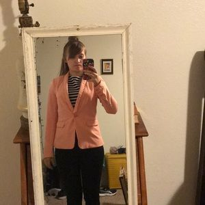Adorable pink guess blazer